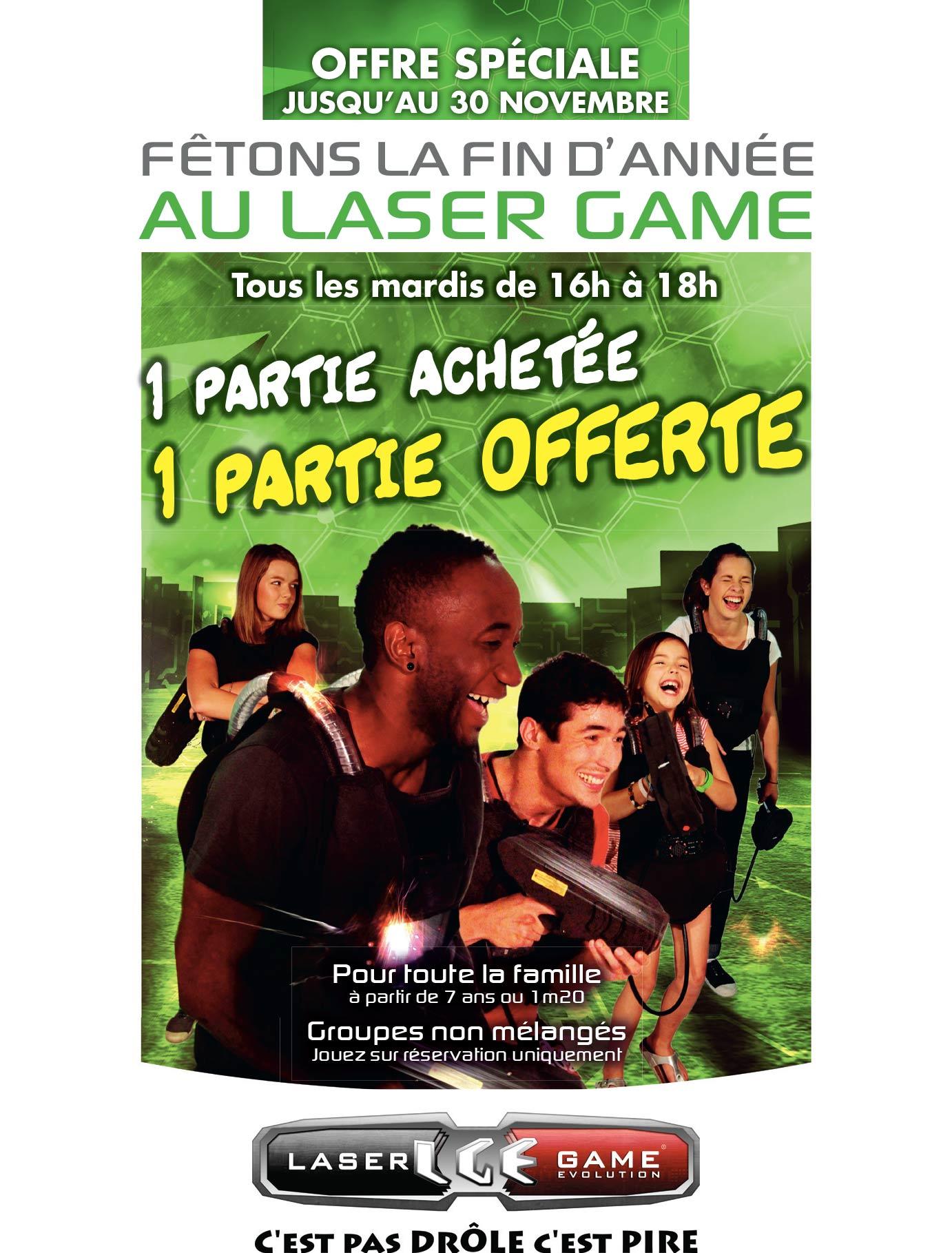 offre promotion Laser Game